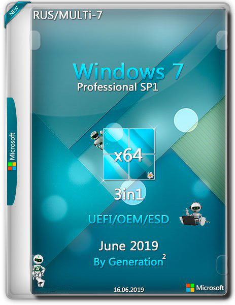 Windows 7 Pro SP1 x64 3in1 OEM by Generation2